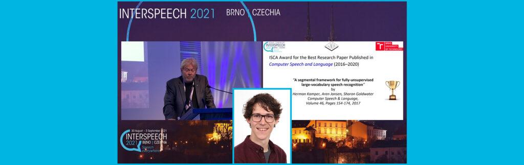 Dr Herman Kamper Awarded for Research Paper